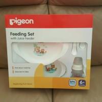 Pigeon Feeding Set with Juice Feeder (peralatan makan bayi)