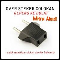 Over Steker Colokan Gepeng/Pipih ke Bulat (Colokan Standard Indonesia)
