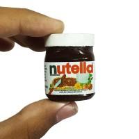 Magnet kulkas miniatur botol selai coklat Nutella