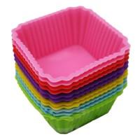 SALE ! Cetakan Puding / Kue / Coklat Silicone Bentuk Kotak / Box