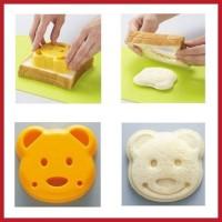 SALE ! Sandwich Mold Bear / Cetakan Roti Beruang murah berkualitas