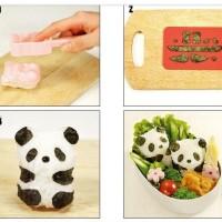 SALE ! Bento Rice Mold Panda with Seaweed Nori Cutter murah