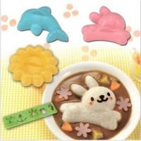 SALE ! Rice Mold 4in1 (Rabbit, Dolphin, Flower, Expression) murah