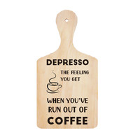 Wall Stiker Talenan Depresso Coffee Quotes Kata Cutting Sticker Cafe