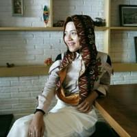 Hijab / Jilbab hoodie motif katun mix saten ATM store