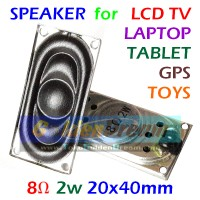 Speaker 8 Ohm 2W 20x40mm Speaker LCD TV Laptop Tablet GPS MP3 Mainan