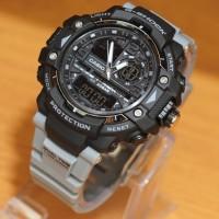 Jam Tangan Pria Casio G-shock Dualtime Black strap Grey