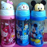 Botol Minum Kepala Karakter Keropi , Hello Kitty , Doraemon , Mickey