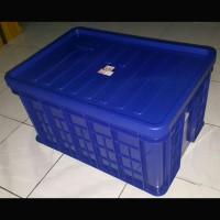 HANATA 2104 + TUTUP BOX CONTAINER SERBAGUNA 87 LITER / BOX INDUSTRI
