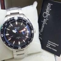Jam Tangan Pria Alexandre Christie AC 6436 Silver ring Black Original