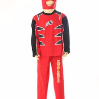 baju anak power rangers jungle fury merah