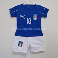 Setelan Baju Jersey Bola Anak Negara Italia Home Euro 2016