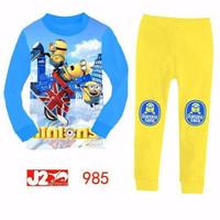 Baju Tidur Piyama Anak Unisex J2 Minions