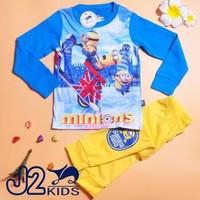 Baju Tidur Piyama Anak Unisex J2 Minions Diskon