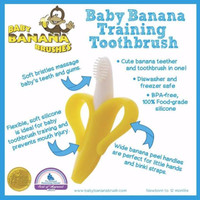 SIKAT GIGI BAYI BABY BANANA TEETHER TOOTHBRUSH ,BARU , ORIGINAL