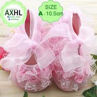 Baby Girl Crib Shoes Pink Lace - A 0-3 bulan / Sepatu Bayi Perempuan