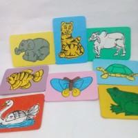 Mainan edukasi anak-puzzle gambar hewan Berkualitas Ber Berkualitas