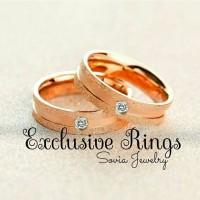 cincin kawin tunangan nikah simple lapis emas