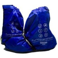 Cover Shoes Grand Funcover Warna Biru | Jas Hujan Sepatu Premium