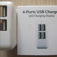 USB Charger 4 Port + Led Display