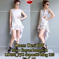 3s. [Dress Desi BW SW] pakaian wanita dress warna Broken White