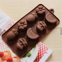 Cetakan silikon coklat es puding silicone Buah Fruit 8 pcs