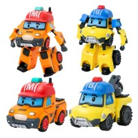 ROBOCAR POLI SET ISI 2 MURAH - TRANSFORMABLE ROBOT BUCKY DAN MARK