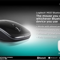 Logitech Bluetooth Mouse M557 - Garansi Resmi Berkualitas