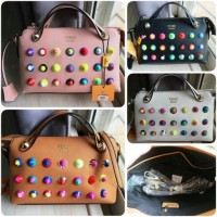 TAS WANITA - FENDI BY THE WAY BOSTON STUDDED - PREMIUM