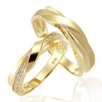 cincin kawin nikah tunangan emas kuning cantik