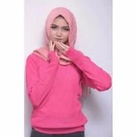 Sweater Rajut Roundhand Wanita Pink Fanta