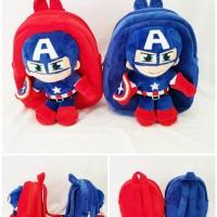 Tas Ransel Boneka Avengers Captain America Bahan Yelvo Halus Lembut
