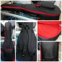 Tas gitar / softcase gitar akustik hitam - merah