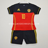 Setelan Baju Jersey Bola Anak Negara Belgium / Belgia Home Euro 2016