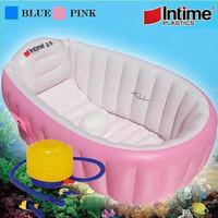 Kolam Spa Bayi Paket Intime Baby Bath Tub Pink Pompa 5 Inch Bak Ma T