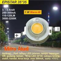 HPL 1W EPISTAR Warm White 35x35 3000-3200K 280-300mA