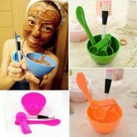 Mangkok Masker Peracik Wajah DIY 4in1 Bowl Tool tempat kuas kosmetik