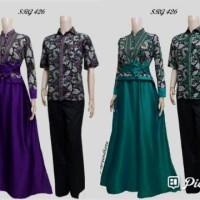 Baju Batik Couple Sarimbit Pasangan Cewek Cowok Hem Katun Mix Velvet