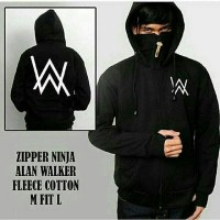 JAKET HOODIE ZIPPER ALAN WALKER NINJA HITAM (SLETING)
