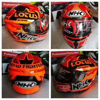 Helm FullFace NHK GP Tech Lotus Full Face Visor Orange