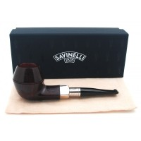Savinelli Spigot Red Smooth 510 (6mm) - Pipa Cangklong Kayu Briar Pipe