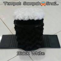 Tempat Sampah Mobil SNAIL BLACK WHITE