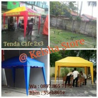 Cover Atap Tenda Cafe Ukuran 2x3 piramid untuk jualan