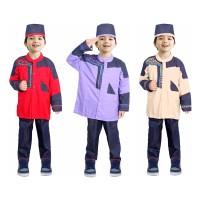 Baju Koko Anak Denim Warna Fayrany FKD-003 usia 2 - 6 Tahun