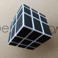 Rubik Mirror 3x3 YongJun Magic Cube Black 3x3x3 White Base