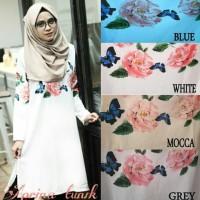 baju atasan Blouse Tunik Wanita Baju Muslim Blus Muslim Aprina Tunik