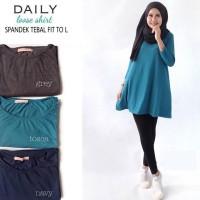 Atasan Blouse Tunik Wanita Baju Muslim Blus Muslim Daily Loose Shirt