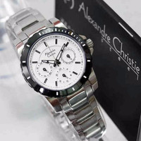 READY Alexandre Christie Wanita Ac 6141 Silver White ORI gARANSI 1 TH
