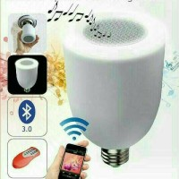 Speaker Musik Bluetooth FLECO F-393 + Bohlam / Audio Lampu Led 2 In 1