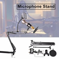 TH537 Mic Arm Stand Microphone Phone Suspension Boom Scissor Holder